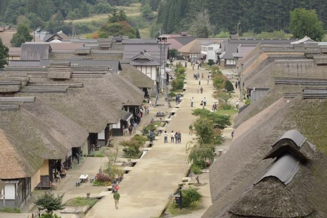 まるで日本昔ばなし! 福島の山間にある茅葺き屋根の町・大内宿